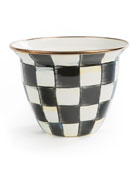 MacKenzie-Childs Courtly Check Enamel Flower Pot