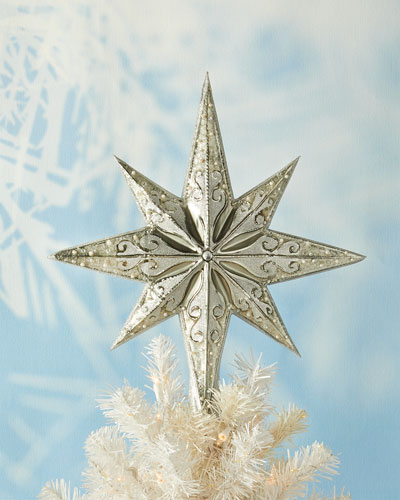 Silver Stellar Christmas Tree Topper