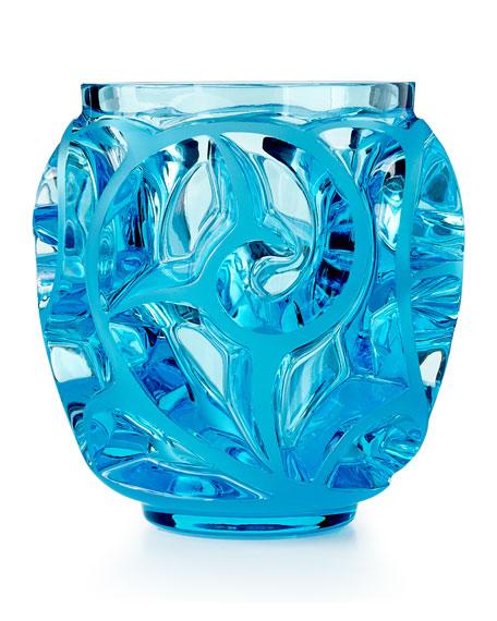 Lalique Tourbillions Blue Mini Vase