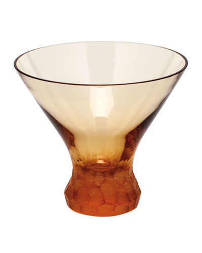 Topaz Pebbles Stemless Martini Glass