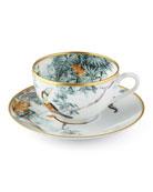 Carnets d' Equateur Birds Tea Cup & Saucer