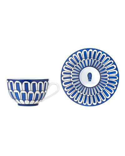 Bleus d'Ailleurs Cup & Saucer