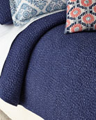 King 3-Piece Dyed Indigo Voile Coverlet Set