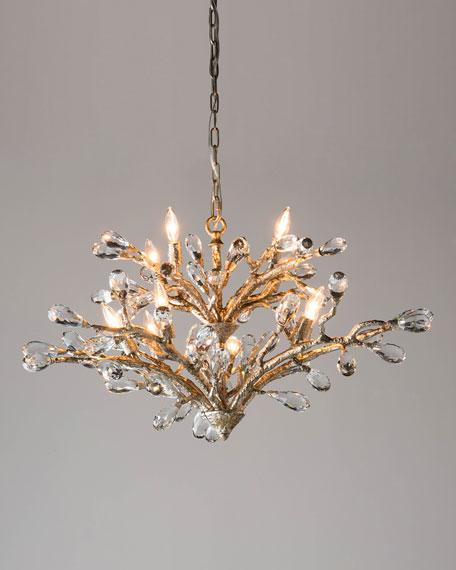 John-Richard Collection Budding Crystal 10-Light Chandelier