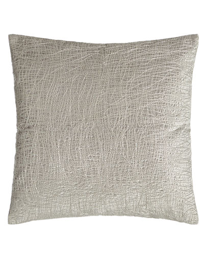 Metallic Embroidered Velvet Pillow, 18