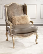 Meg Leather Wingback Chair