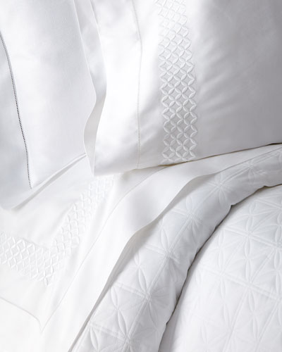King 300TC White Sateen Fitted Sheet