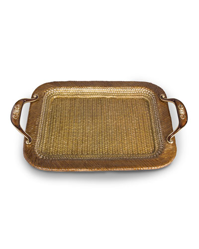 Abbott Rattan Metal Tray