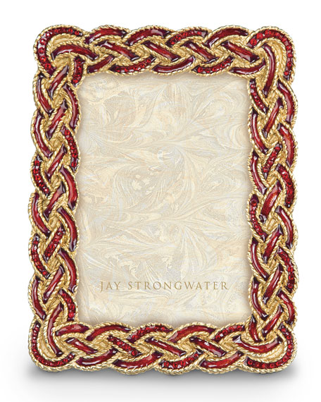 """Jay Strongwater Aileen Braided 3.5"""" x 5"""" Picture Frame"""