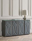 Hooker Furniture Rocke Upholstered 4-Door Credenza
