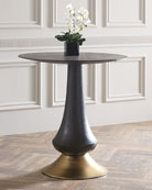 Zaria Pub Table, Brown/Gold
