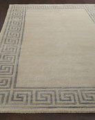 "Greek-Key Border Rug, 5'9"" x 9'9"""