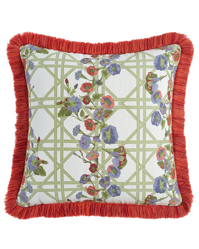 Morning Glory Spindle Outdoor Cushion