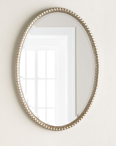 Oval Framed Wall Mirror