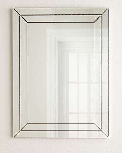 Etched Rectangular Mirror
