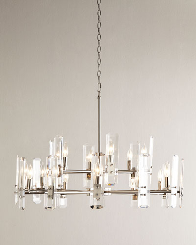 Lucite Icicle Chandelier