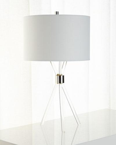Lucite Tripod Lamp
