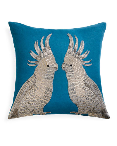 Zoology Parrots Throw Pillow