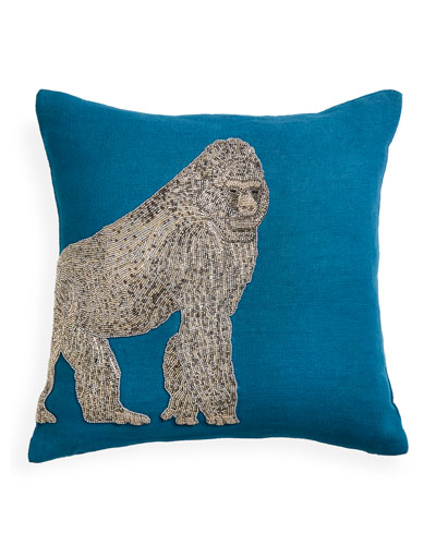 Zoology Gorilla Throw Pillow