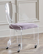 Mabel Nickel-Trimmed Acrylic Chair