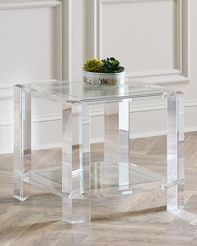Langston Acrylic Side Table