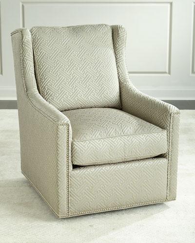 Braxton Swivel Chair, Beige