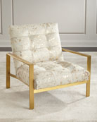 Melora Gold Hairhide Chair