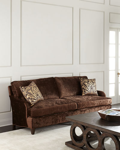 Quick Look. Massoud · Carla Velvet Sofa, Brown