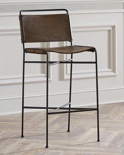 Peachy Imported Leather Bar Stool Neiman Marcus Creativecarmelina Interior Chair Design Creativecarmelinacom