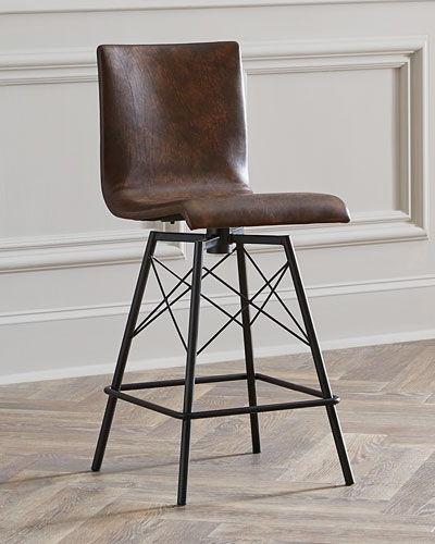 Magnificent Brown Handcrafted Stool Neiman Marcus Machost Co Dining Chair Design Ideas Machostcouk
