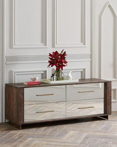 Pratt Four Drawer Mirrored Dresser