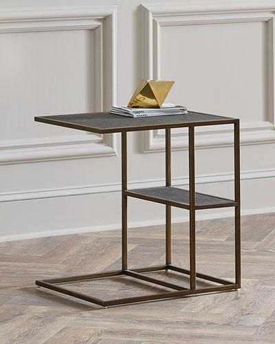 Peyton Faux Shagreen Side Table