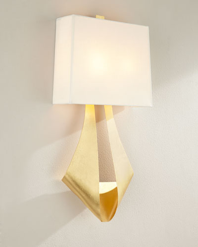 RIBBON SCONCE WITH WHITE LIN