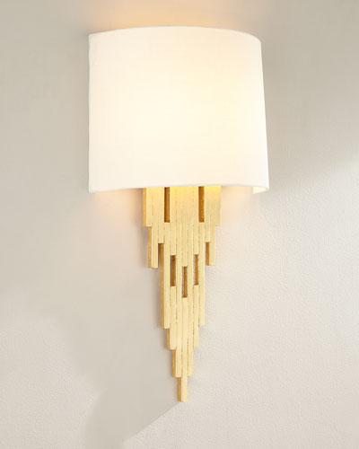 Gold Leaf Tapering Sconce
