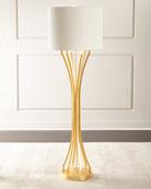 Gold Leaf Hourglass Floor Lamp