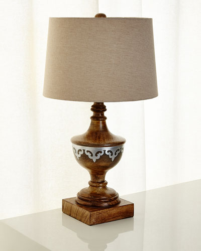 Wood Table Lamp with Shade,
