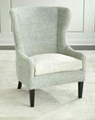 Darrow Wingback Chair, Light Green