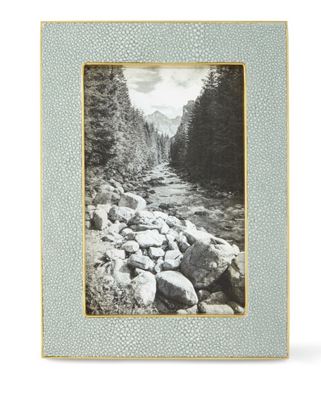 """AERIN Mist Classic Faux-Shagreen 4"""" x 6"""" Picture Frame"""