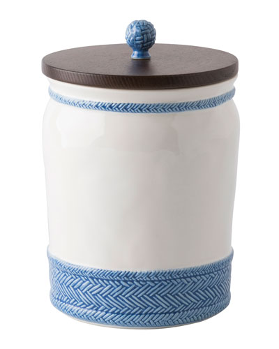 Le Panier White/Delft Blue Canister, 10