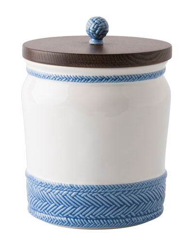 Le Panier White/Delft Blue Canister, 7.5