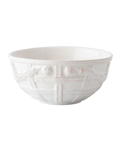 Le Panier Whitewash Basket Cereal/Ice Cream Bowl