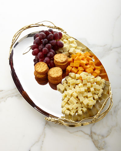 Wheat Oval Serving Platter