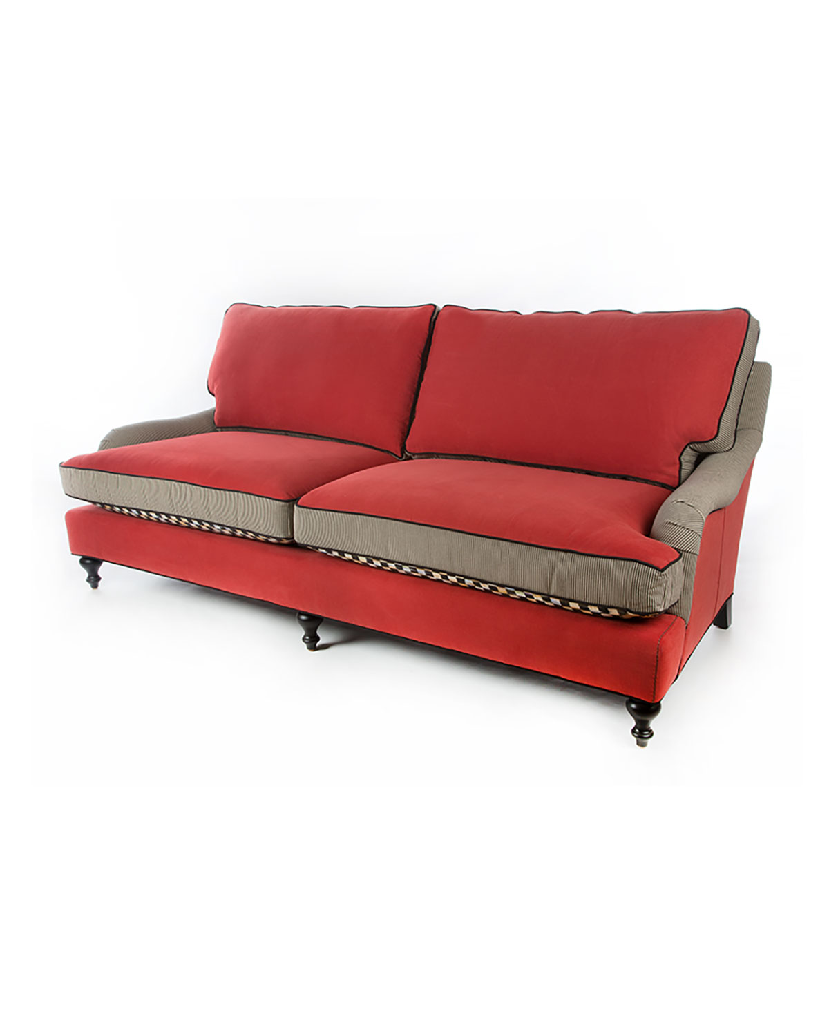 Courtly Check Underpinnings/Tomato Sofa
