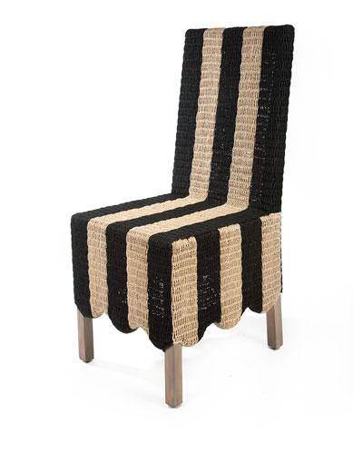 Striped Grange Side Chair