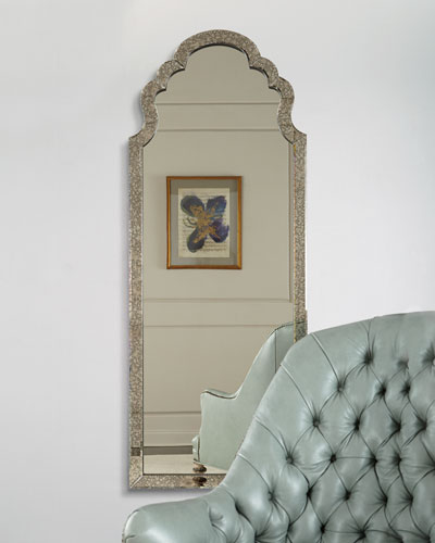 Antiqued Glass Dressing Mirror