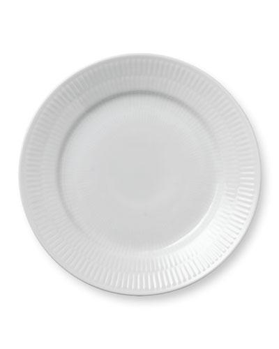 WHITE PLAIN SALAD PLATE