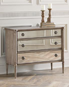 Cecile Mirrored Three-Drawer Chest