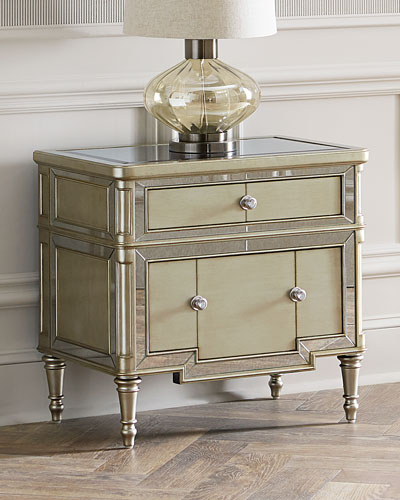 Hughe Mirrored Two-Drawer  Chest