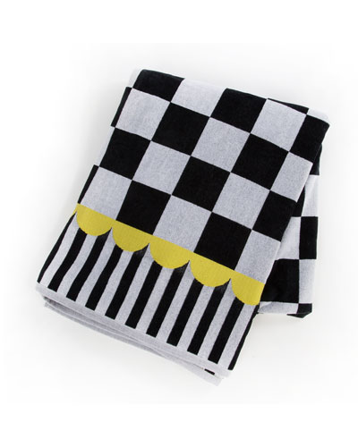 Courtly Check Beach Towel