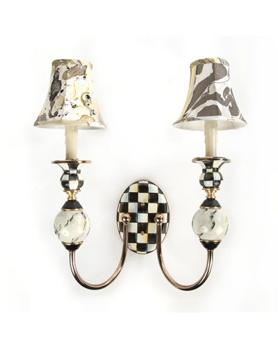 Courtly Palazzo Double Sconce